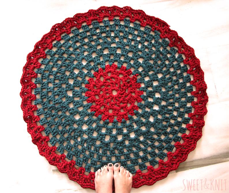 Sweet knit venta de alfombras de ganchillo xxl trapillo - Alfombras ganchillo trapillo ...