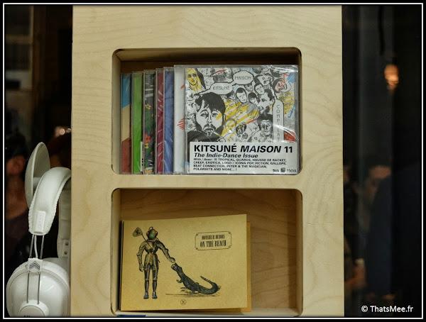 Pop-up Store Petit Bateau CD label Kitsuné maison Kitsuné collab, boutique Marais pop-up store Paris