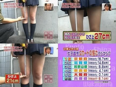 Siswi di Jepang Pake Rok Mini Minimal 17cm Diatas Lutut