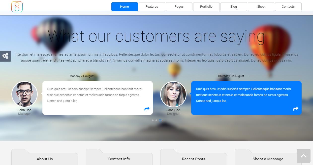 the 8 responsive html5 creative multipurpose website template