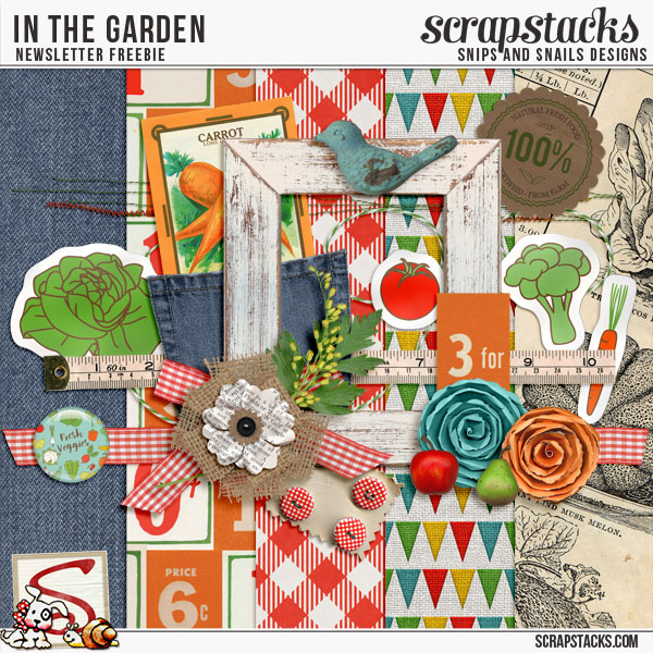 In the Garden Newsletter Freebie by Snips and Snails Designs