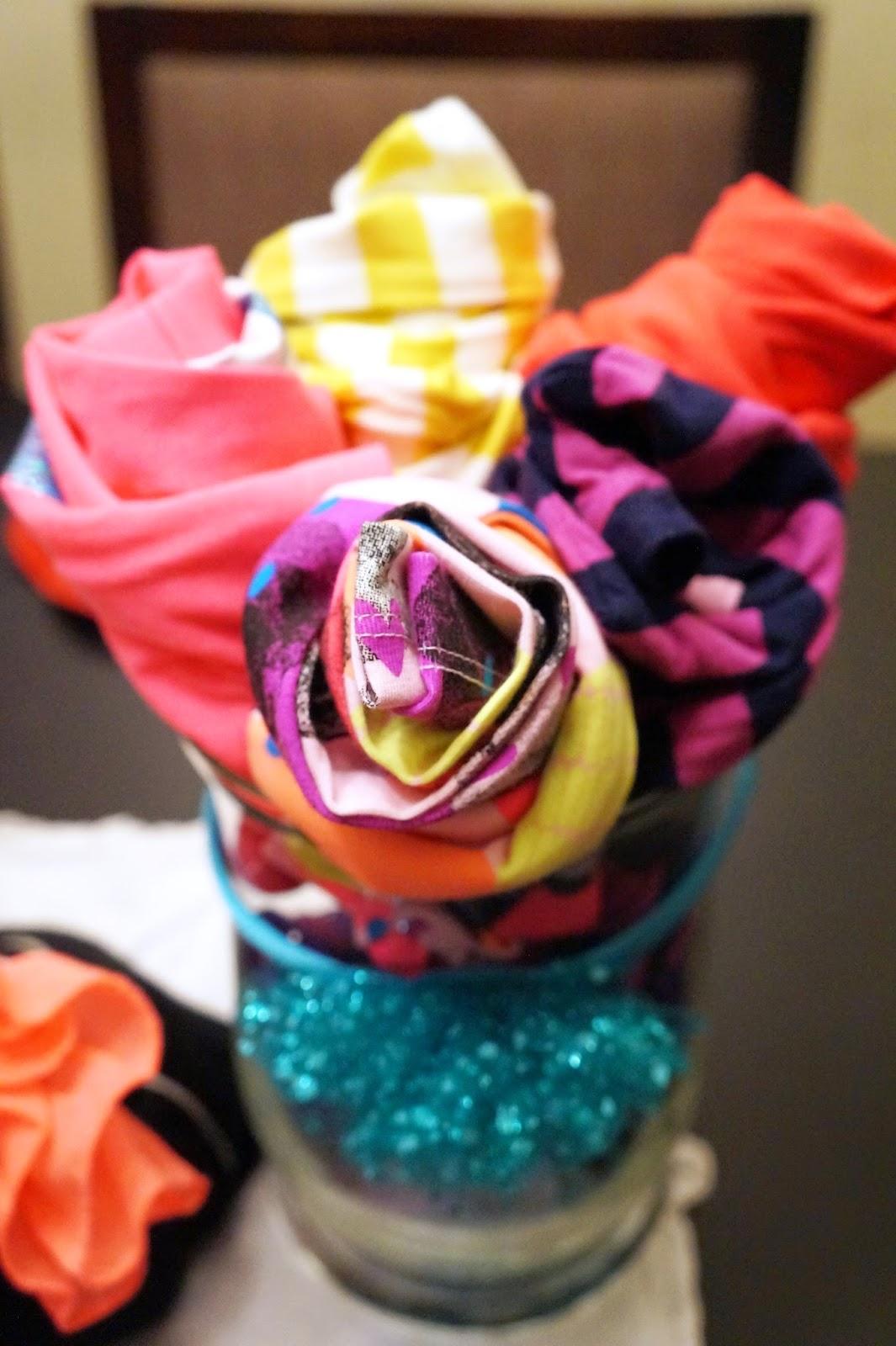 t-shirt flowers, t-shirt bouquet