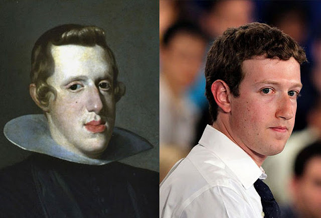 Parecidos razonables: Felipe IV y Mark Zuckerberg.