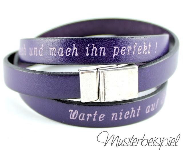 Gravur Armband lederarmband mit Deinem Wunschtext graviert