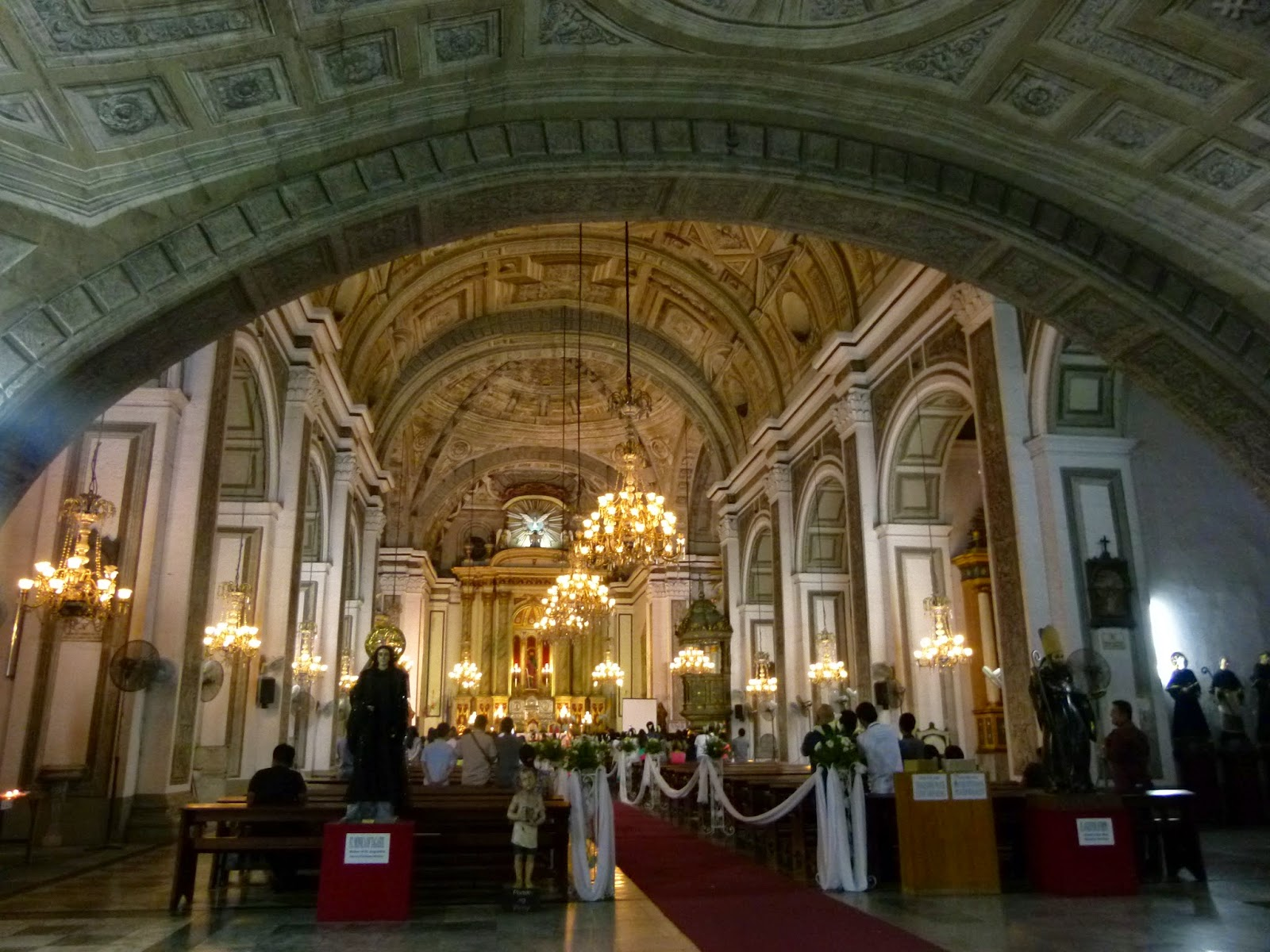 The Grand Interiors Of The Church Complements The Dramatic Wedding Vows.  Should My Bride To Be Decide To Appear Two Years From Now, The San Agustin  Might Be ...