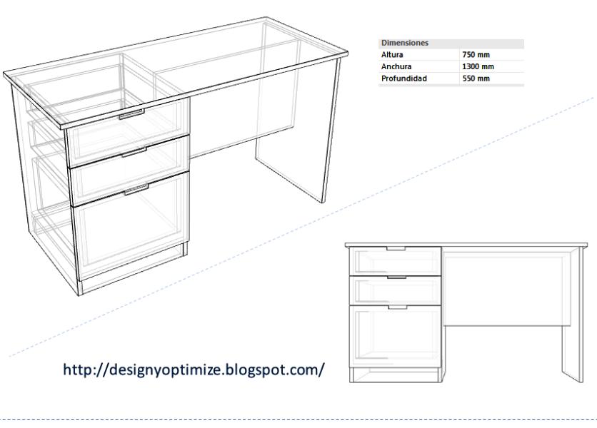 Dise o de muebles madera como construir un escritorio con for Plano escritorio melamina