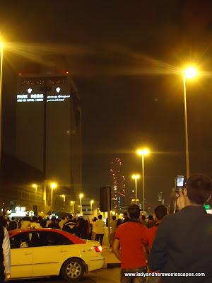 Watching Fireworks Burj Khalifa