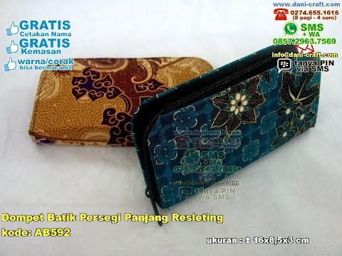 Dompet Batik Persegi Panjang Resleting