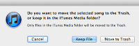 Keep the file in the iTunes Media Folder.
