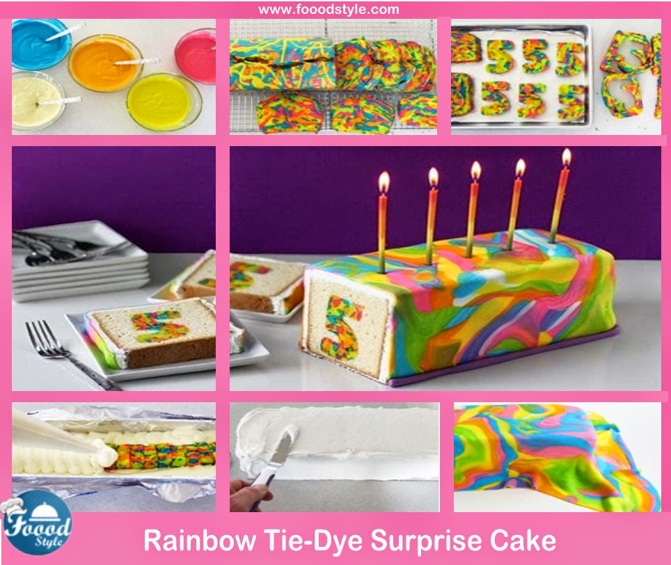 Awesome Rainbow Tie Dye Surprise Cake Idea Foood Style