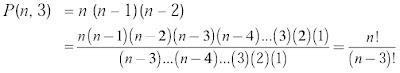 permutasi 3 unsur yang diambil dari n unsur