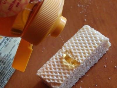 barquillos con miel