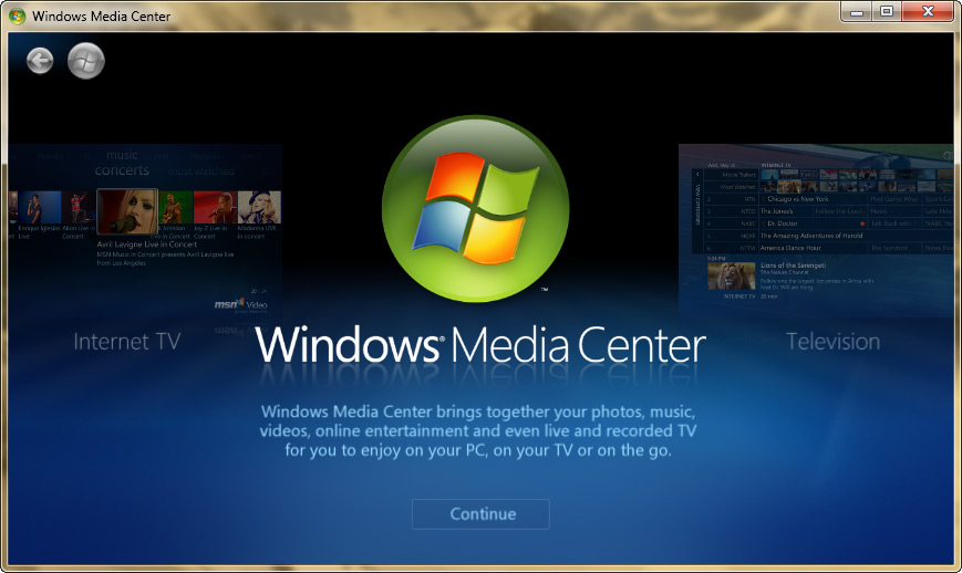Windows media center airplay
