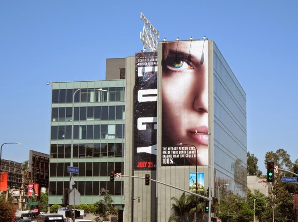 Giant Lucy movie billboard