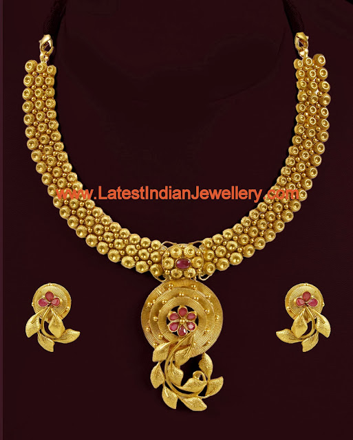 Light Weight Antique Gold Necklace