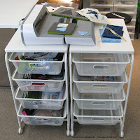 Using the Ikea Algot storage system to hold my AccuQuilt Go! Electric Cutting machine