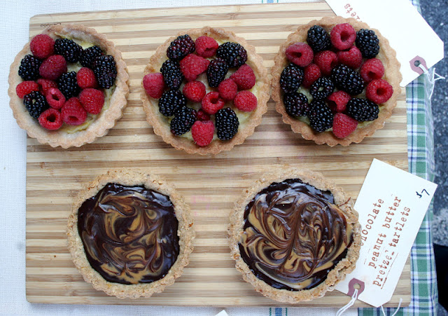 Nothing in the House Berry Tarts & Chocolate-Peanut Butter Pretzel Tarts