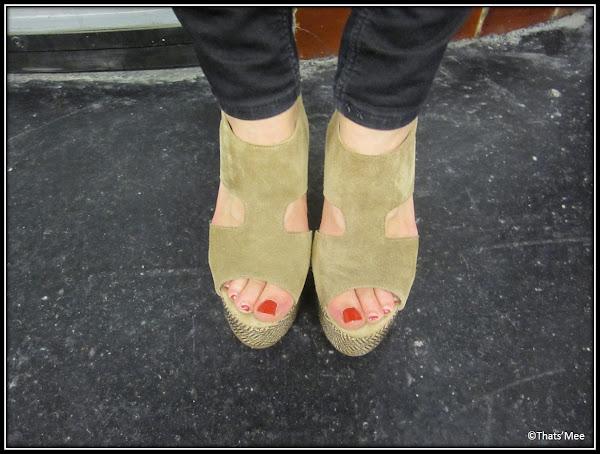 Shoes compensées Claudie Pierlot  daim à trous
