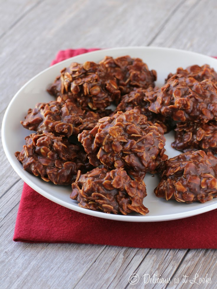 No-Bake Cookies {FODMAP-Friendly, Gluten-Free, Egg-Free}  /  Delicious as it Looks