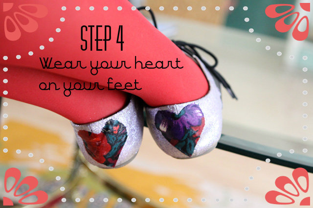 heart shoes, tutorial, DIY