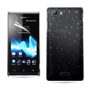 3D RAIN DROP DESIGN HARD CASE COVER For Sony ST26i Xperia J + Film
