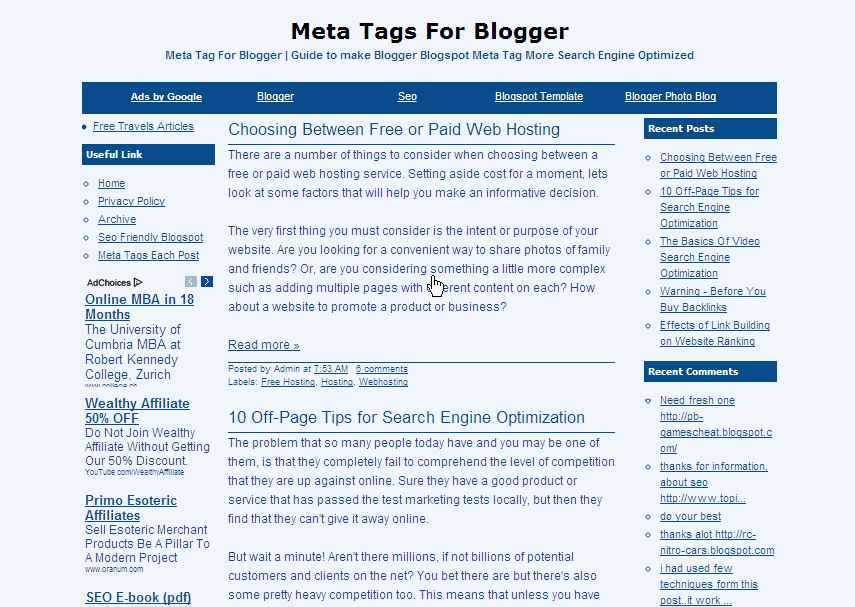 Blogger templates free bluesense blogger template bluesense maybe looks like amateur but i bet youll have maximum click through rate bluesense blogger template come with 3 columns with left and right maxwellsz