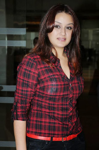 Sonia Agarwal In Black Red dress