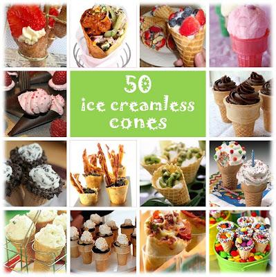 50 ice cream-less cones