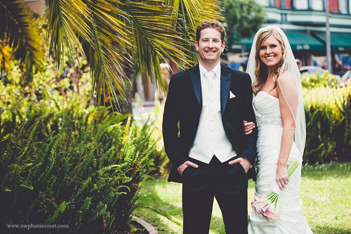 """""""bride and groom sunset photos in sausalito"""""""