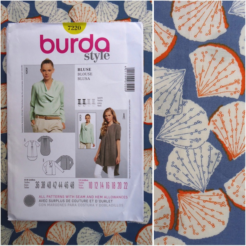 Burda 7220 and Peter Horton Textiles Sea Island Cotton