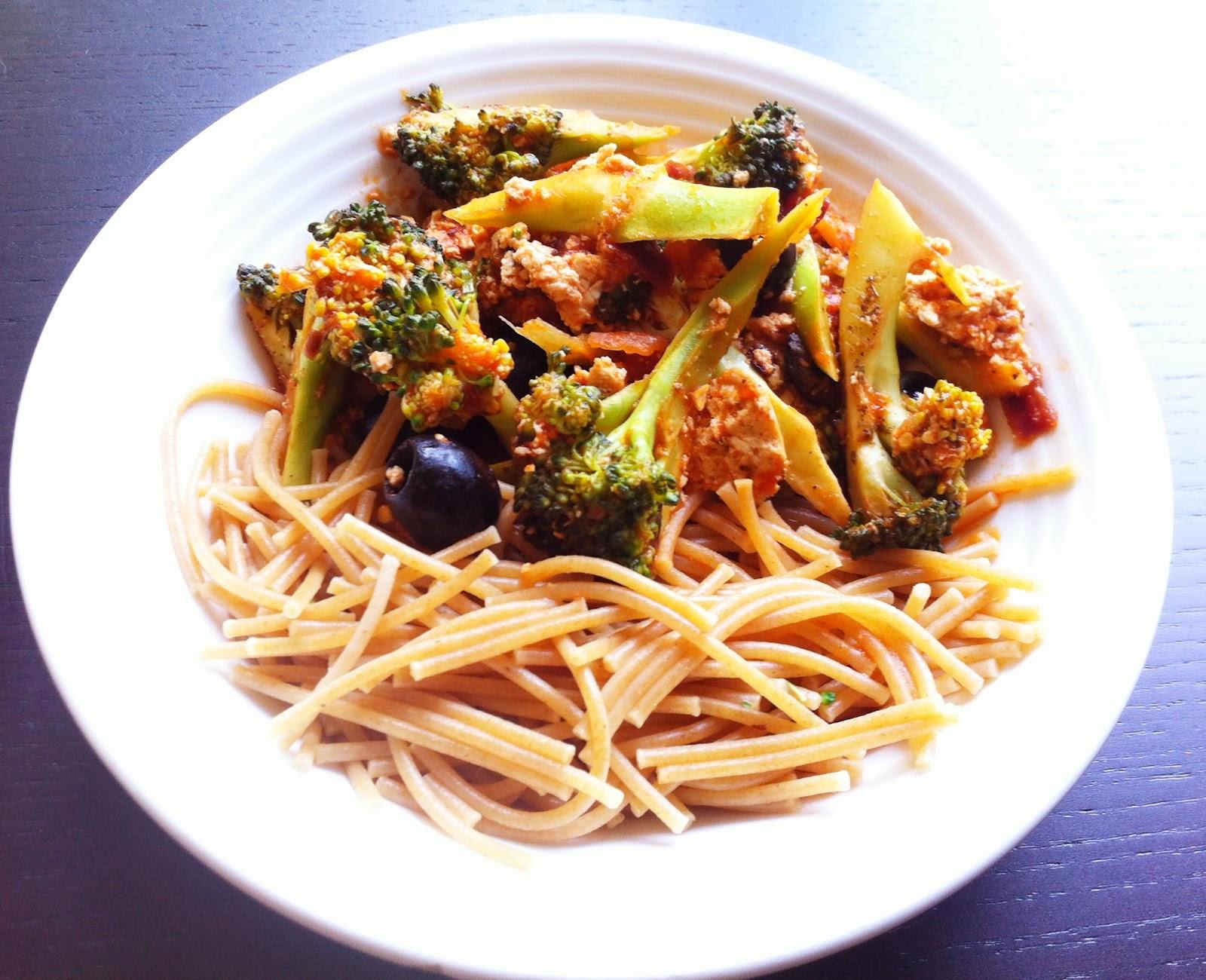 De plantaardige keuken: pasta met broccoli & kruidentofu