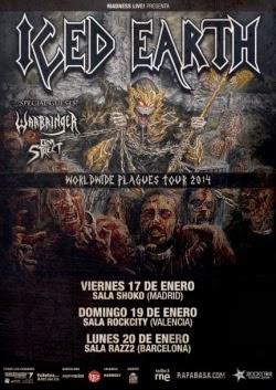 Conciertos de Iced Earth y Warbringer en Madrid, Barcelona y Valencia en enero