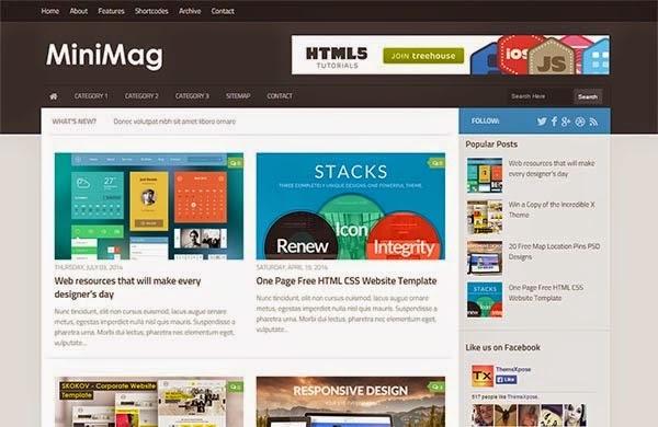 MiniMag Responsive Blogger Template