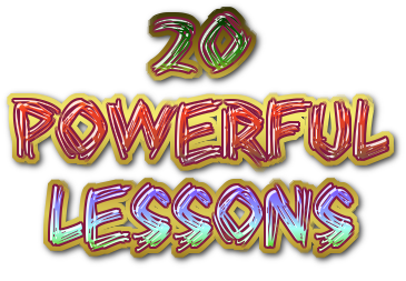 20 powerful lessons
