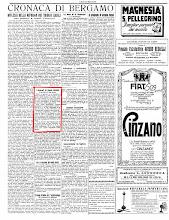 """""""ECO DI BERGAMO"""" 5 AGOSTO 1925"""