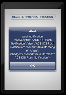 Appcelerator Cloud Push Notification in iPhone
