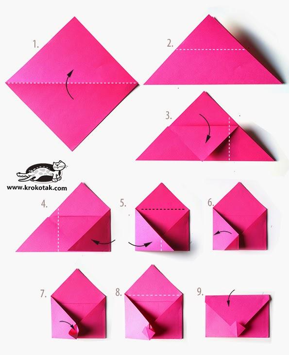 Как сделать из одного листа бумаги конверт  569
