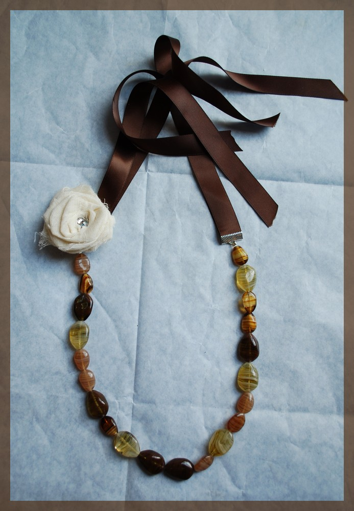 Ribbon tie necklace 3rd attempt heavenly handmades for Ribbon tie necklace jewelry