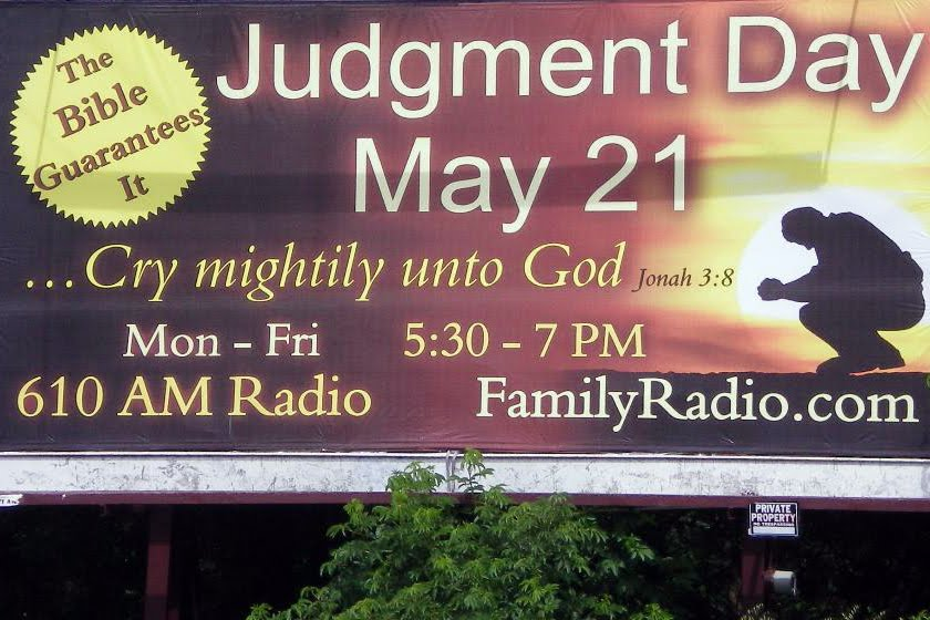 judgment day may 21 billboard. hair may 21 judgement day
