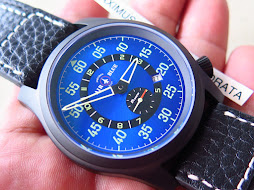 AIR BLUE PRECISION PILOT WATCH - PAPA PRAESTO - SUNBURST BLUE DIAL - AUTOMATIC