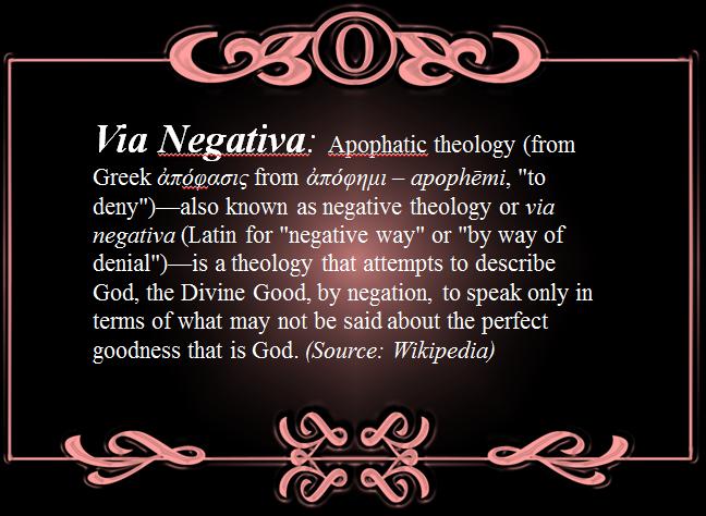 via negativa a way of talking