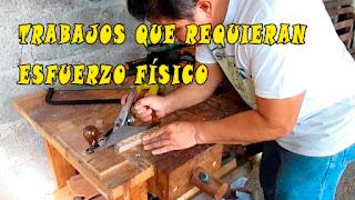 cepillando madera