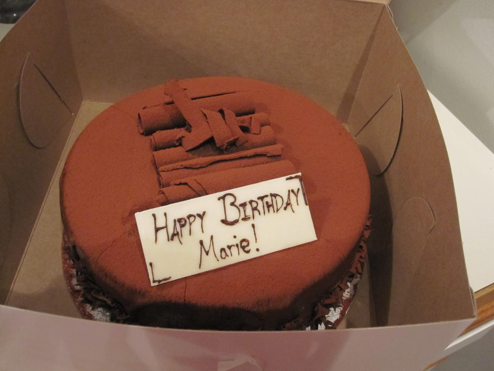 happy birthday marie cake