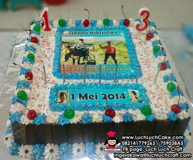 Kue Tart Ulang Tahun Simpel Dengan Foto