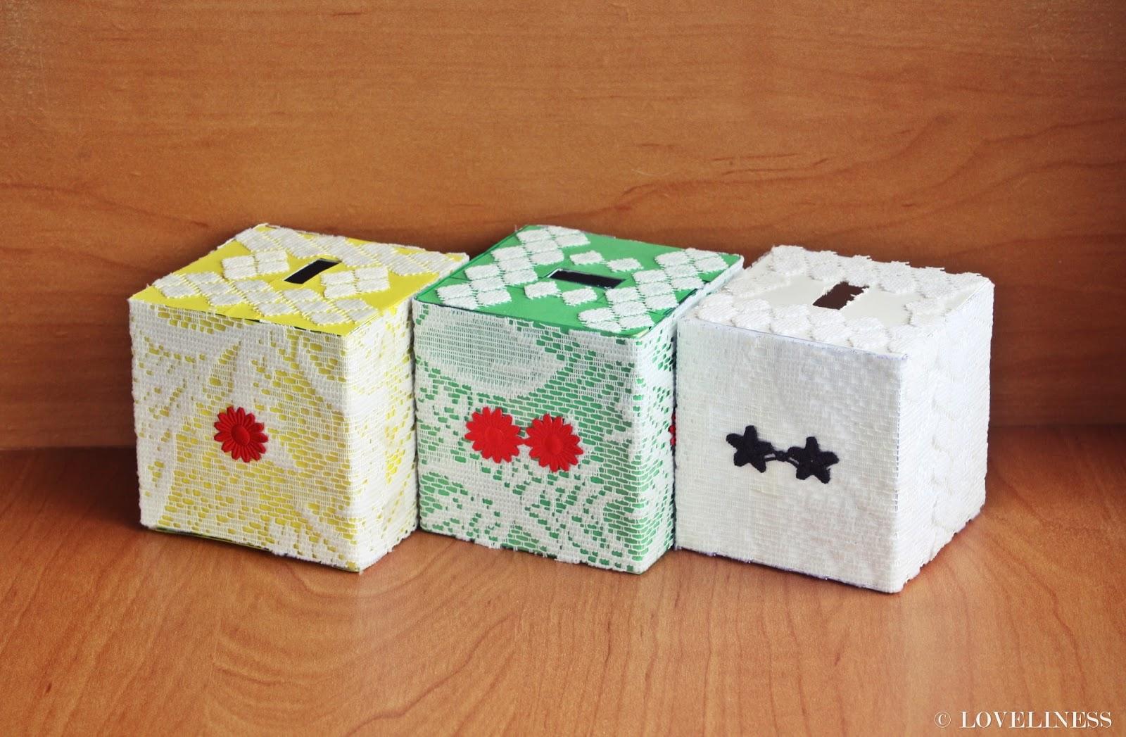 DIY koronkowe skarbonki