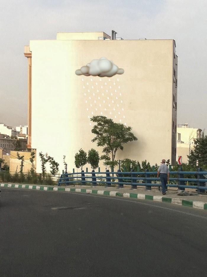 Murales en los edificios de Teheran 21