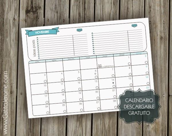 Calendario para organizar las publicaciones para bloggers