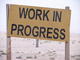 This says work in progress.