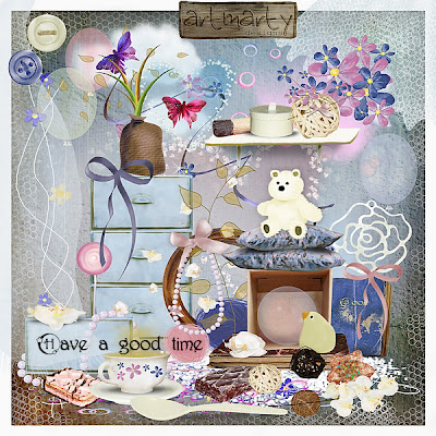 """Free scrapbook kit """"Have a good time""""from Artmarty Design"""