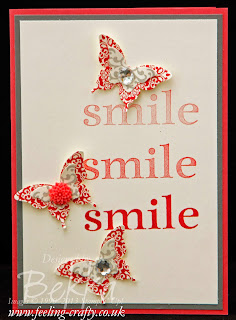 Smile Card by UK based Stampin' Up! Demonstrator Bekka - get everything you need for this card here